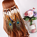 זול פידג'ט ספינרים-נוצות אביזר לשיער עם נוצות 1pc קרנבל / בָּחוּץ כיסוי ראש
