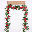 זול פרחים מלאכותיים-פרחים מלאכותיים 1 ענף קלאסי להתקנה על הקיר חתונה סגנון מינימליסטי ורדים פרחים נצחיים פרחים לקיר