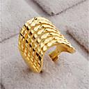 זול Fashion Ring-בגדי ריקוד נשים פתח את הטבעת 1pc זהב זהב 18K מילא Geometric Shape מסוגנן מתנה יומי תכשיטים גיאומטרי שַׂמֵחַ חמוד