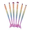 זול סטים של מברשות איפור-מקצועי מברשות איפור 6pcs כיסוי מלא צבע הדרגתי פלסטיק ל מברשת סומק מברשת מייקאפ מברשת איפור מברשת גבות