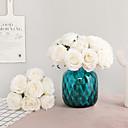 זול פרחים מלאכותיים-פרחים מלאכותיים 7 ענף קלאסי ארופאי פרחי חתונה ורדים פרחים נצחיים פרחים לשולחן
