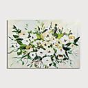 hesapli Çiçek/Botanik Resimleri-Hang-Boyalı Yağlıboya Resim El-Boyalı - Çiçek / Botanik Modern Iç çerçeve dahil