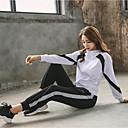 זול בגדי ריצה-בגדי ריקוד נשים אחיד יוגה ריצה כושר גופני קפוצ'ון שרוול ארוך לבוש אקטיבי נושם לביש תומך זיעה