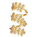 זול שרשרת אופנתית-בגדי ריקוד נשים טבעת פתח את הטבעת טבעת מתכווננת זירקונה מעוקבת 1pc זהב כסף ציפוי זהב 18 קאראט נחושת מצופה פלטינום אופנתי מתנה יומי תכשיטים נושא פרחוני