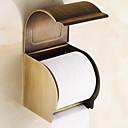 זול מחזיקי נייר טואלט-מחזיק נייר טואלט יצירתי עכשווי פליז 1pc מותקן על הקיר