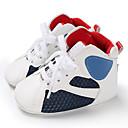 halpa Lasten saappaat-Poikien / Tyttöjen PU Bootsit Vauvoilla (0-9m) / Taapero (9m-4ys) Ensikengät Valkoinen / Musta / Valkoinen / sininen Kevät / Syksy