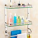 זול מדפי מקלחת-צדף לחדר האמבטיה יצירתי עכשווי זכוכית / פלדת על חלד 1pc - חדר אמבטיה מותקן על הקיר
