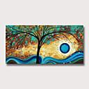halpa Abstraktit maalaukset-Hang-Painted öljymaalaus Maalattu - Abstrakti Kukkakuvio / Kasvitiede Moderni Ilman Inner Frame