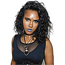 זול פיאות תחרה משיער אנושי-שיער אנושי 13x6 סוגר פאה חלק צד בסגנון שיער מלזי מתולתל שחור פאה 130% צפיפות שיער נשים בגדי ריקוד נשים קצר אחרים Clytie