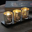 זול מזכרות נרות-נושא קלאסי מצדדים נרות - 3 pcs פמוטים קופסאת מתנה כל העונות