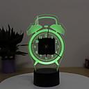 זול שעונים מעוררים-שעון מעורר אנלוגי מתכת LED 1 pcs