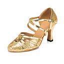 זול טבעות-בגדי ריקוד נשים נעלי ריקוד סינטטיים נעליים מודרניות נצנוץ / Paillette עקבים עקב רחב מותאם אישית זהב / כסף / הצגה / אימון