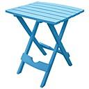 זול שולחנות מתקפלים-בריכה כחול שולחן מתקפל בצד פטיו עמיד ריהוט שרף פלסטיק