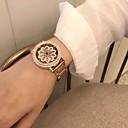 זול מגפי נשים-בגדי ריקוד נשים שעון מכני קווארץ מתכת אל חלד עמיד במים אנלוגי אופנתי - כסף זהב ורד