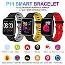 Недорогие Умные браслеты-P11 IP68 водонепроницаемый Bluetooth-гарнитура смарт-часы фитнес-трекер сердечного ритма кислорода в крови давление калорий сна монитор для Android IOS