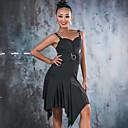 お買い得  バレエウェア-ラテンダンス ドレス 女性用 性能 スパンデックス フリル ノースリーブ ドレス