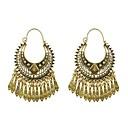 זול עגילים אופנתיים-בגדי ריקוד נשים עגילי טיפה עגילים תכשיטים זהב עבור יומי 1pc