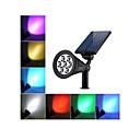 זול אביזרי תאורה-1pc 2 W אורות דשא / תאורת קירות חוץ / השמש אור השמש עמיד במים / סולרי / דקורטיבי צבעוני 3.7 V תאורת חוץ / חָצֵר / גן 7 LED חרוזים