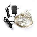 זול חוט נורות לד-אורות חג המולד dc 10m פיות אורות 12v 1a מתאם חג המולד / שנה חדשה / קישוט החתונה אורות הוביל מחרוזות