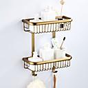hesapli Banyo Rafları-Banyo Rafı Multilayer / Yeni Dizayn Antik / Ülke Pirinç 1pc - Banyo / Otel banyo Çift Duvara Monte Edilmiş