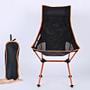tanie Namioty turystyczne i ochronne-Składane krzesło turystyczne Ultra lekki (UL) Składany 7075 Aluminium Siateczka na 1 Kemping Podróże Wiosna, jesień, zima, lato Pomarańczowy Czerwony Ciemnoniebieski