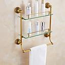 זול מדפי מקלחת-צדף לחדר האמבטיה יצירתי עכשווי פליז 1pc מותקן על הקיר