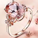povoljno Modno prstenje-Žene Prsten Kubični Zirconia 1pc Pink Svjetloplav Legura slatko Dar Dnevno Jewelry Rukav leptir Lijep