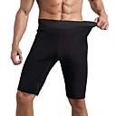 זול בגדי ריצה-בגדי ריקוד גברים גיזרה גבוהה שורט צמוד לריצה רצים תחת מכנסיים קצרים ללא תיפורים מכנסיים קצרים נושם רך בקרת בטן צבע אחיד / מיקרו-אלסטי