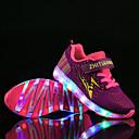 זול LED Shoes-בנים / בנות נעליים זוהרות Flyknit נעלי ספורט ילדים קטנים (4-7) / ילדים גדולים (7 שנים +) הליכה LED סגול / כחול / שחור / ירוק קיץ / סתיו / קולור בלוק / גומי