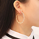hesapli Göz Farları-Kadın's Halka Küpeler Geometrik pala Basit Klasik Moda Zarif Küpeler Mücevher Altın / Gümüş Uyumluluk Hediye Günlük Cadde Festival 1 çift