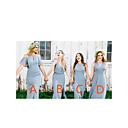 זול שמלות שושבינה-גזרת A צווארון V / קולר עד הריצפה שיפון שמלה לשושבינה  עם שסע קדמי על ידי JUDY&JULIA