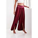 זול שרשראות-בגדי ריקוד נשים ספורטיבי משוחרר רגל רחבה מכנסיים - אחיד ספורטיבי יין M L XL