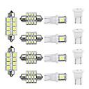 hesapli Plaka Işığı-14 adet t10 led araç İç kubbe okuma ışıkları ampul kiti çatı plaka lambası
