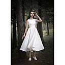 זול שמלות שושבינה-גזרת A עם תכשיטים באורך הקרסול שיפון מעל סטאן שמלות חתונה עם על ידי LAN TING Express