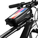 povoljno Torbice za okvir-WILD MAN Mobitel Bag Bike Frame Bag 6.2 inch Touch Screen Vodootporno Rainproof Biciklizam za iPhone 8 Plus / 7 Plus / 6S Plus / 6 Plus iPhone X Crn Crno-crvena Cestovni bicikl Mountain Bike