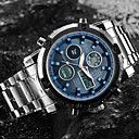 Недорогие Армейские часы-ASJ Муж. Спортивные часы Наручные часы электронные часы Японский Кварцевый Нержавеющая сталь Белый 30 m Защита от влаги Секундомер ЖК экран Аналого-цифровые Мода Нарядные часы - Белый Черный Синий