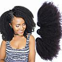 """preiswerte Haarverlängerungen in natürlichen Farben-3 Bündel Mongolisches Haar Afro Echthaar One-Pack-Lösung 8""""-26"""" Natürlich Menschliches Haar Webarten Haarverlängerungen"""