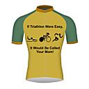 povoljno Biciklističke majice-21Grams Muškarci Kratkih rukava Biciklistička majica Žutomrk Bicikl Biciklistička majica Majice Prozračnost Quick dry Reflektirajuće trake Sportski 100% poliester Brdski biciklizam biciklom na cesti
