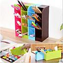 זול צנצנות ותיבות-בית הספר שולחן עטים caddy מארגן - 4 חתיכת להגדיר ציוד בית הספר לאחסון עבור תלמידים, מורים, 16 תאים עבור עטים, erasers ועוד
