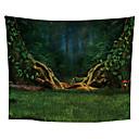 billiga Wall Tapestries-Blom-tema / Klassisker Tema Väggdekor Polyester Medelhavet / Moderna Väggkonst, Vägg Tapestries Dekoration