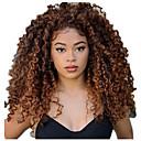 Недорогие Натуральные парики без шапочки-основы-Натуральные волосы Лента спереди Парик Свободная часть стиль Малазийские волосы Kinky Curly Черный Парик 130% Плотность волос Женский Жен. Длинные Парики из натуральных волос на кружевной основе