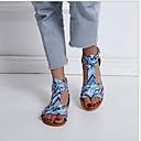povoljno Ženske sandale-Žene Sandale Ravna potpetica Peep Toe PU Ljeto Pink / Leopard / Žutomrk