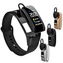 זול אוזניות ספורט-צמיד חכם Bluetooth אוזניות אלחוטיות 2 ב 1 קצב הלב לחץ דם לפקח חכם שעון Bluetooth אלחוטי