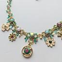 billige Mote Halskjede-Dame Grønn Halskjede Blomster Blomst Chrome Lys Grønn 40 cm Halskjeder Smykker 1pc Til Daglig