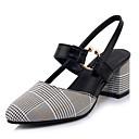 hesapli Kadın Sandaletleri-Kadın's Sandaletler Kalın Topuk PU Tatlı / Minimalizm Sonbahar / İlkbahar yaz Sarı / Kırmzı / Yeşil