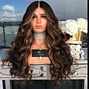 halpa Synteettiset peruukit verkolla-Synteettiset peruukit Kihara Tyyli Keskiosa Suojuksettomat Peruukki Ruskea Musta / tumma Auburn Synteettiset hiukset 26 inch Naisten Party / Naisten Ruskea Peruukki Hyvin pitkä Luonnollinen peruukki