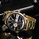 זול שעונים-בגדי ריקוד גברים שעוני שמלה קווארץ שעונים יום יומיים אנלוגי קלסי - שחור זהב