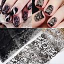 povoljno Naljepnica sa šupljim noktom-10 pcs Naljepnice za čipke Romantična serija nail art Manikura Pedikura Tanak dizajn Stilski / Vintage Dnevno / Festival