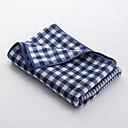 זול מגבת רחצה-איכות מעולה מגבת רחצה, קולור בלוק / משובץ / משבצות כותנה טהורה חדר שינה 1 pcs
