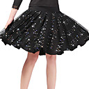 זול דלת חומרה & מנעולים-ריקוד לטיני חלקים תחתונים בגדי ריקוד נשים הדרכה / הצגה פוליאסטר / מילק פייבר נצנוץ / שכבות גבוה חצאיות
